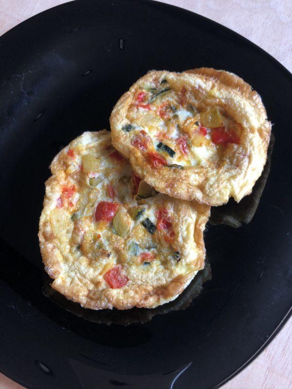 Tortillas de ovo e verduras